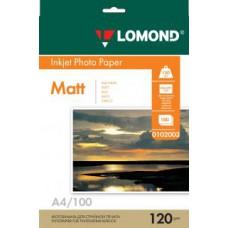 Фотобумага LOMOND Односторонняя Матовая A4/120/100л.