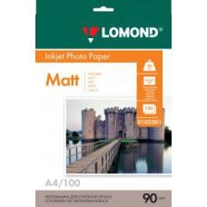 Фотобумага LOMOND Односторонняя Матовая A4/90/100л.