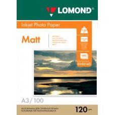 Фотобумага LOMOND Односторонняя Матовая/Матовая A3/120/100л.