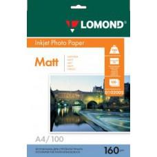 Фотобумага LOMOND Односторонняя Матовая A4/160/100л.